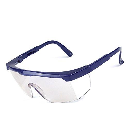 Gafas Protectoras de Plastico Transparente Proteccion de los Ojos Gafas de Proteccion Anti-Viento y Anti-Polvo Anti-Niebla Uso en Medico ⭐