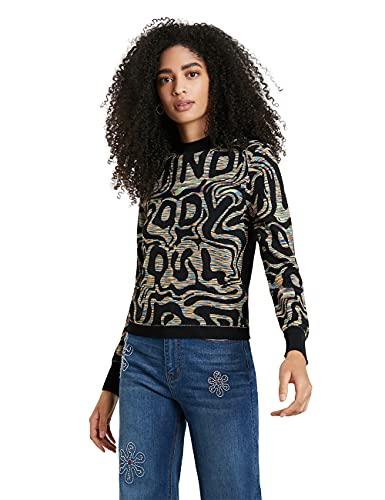 Desigual Womens JERS_ESTRASBURGO Pullover Sweater, Multicolor, S