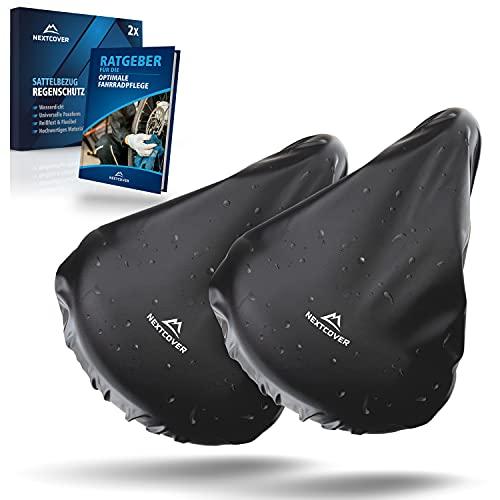 Nextcover® Universal Sattelbezug Fahrrad 2er Set I 100% Wasserdicht I Regenschutz I Sattelschutz
