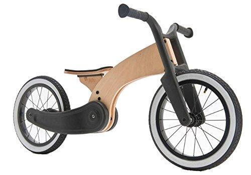 Wishbone Laufrad 2-in-1 Cruise aus Birkenholz, 12 Zoll (ab 2 Jahren) in schwarz / Natur