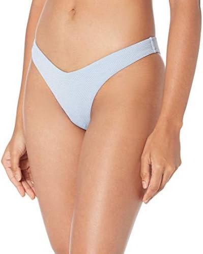 Seafolly Women s V High Cut Pant Bikini Bottom Swimsuit Stardust Bluebell 6 US product image