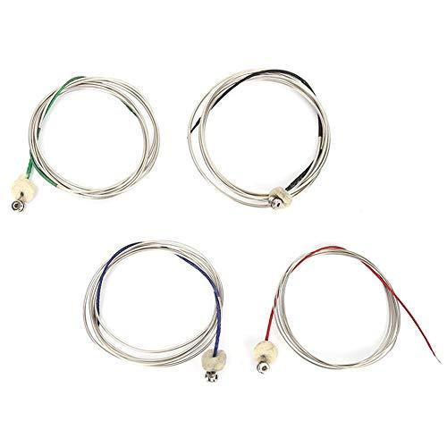 Drfeify Cuerda de Contrabajo, Cuerdas de Contrabajo de Acero Cuerda de Alambre Accesorio de Instrumento de Música Profesional
