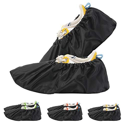 HAKOTOM 3er Schuhüberzieher Überschuhe wiederverwendbar Anti Rutsch überzieher Schuhüberzug Staubfrei Überziehschuhe für Haushalt und im Freien regnerische Erwachsen Unisex rutschfest wasserdicht