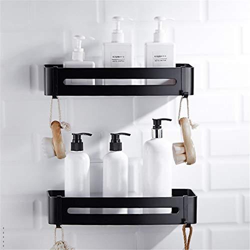 DSD Bathroom Shelf Black Aluminum Shower Shampoo Soap Cosmetic Shelves Bathroom Accessories Hook Wall Rack Storage Organizer Rack