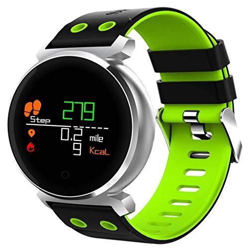 Lg-jz Smart Watch Sport Contapassi Ip68 Impermeabile Heart Rate Call Promemoria Push Push Nuoto Bracciale Intelligente (Dimensioni : Verde)