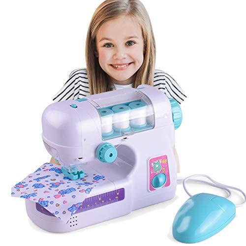 JUSTDOLIFE Mini máquina de Coser eléctrica Crafting Machine Pretend Play Toy para niños