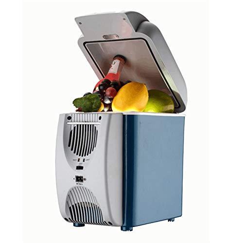 QINAIDI Refrigerador de Autos de 7.5 litros para Camiones, Viajes, Picnic al Aire Libre, enfriamiento de 12 voltios y Calentamiento de Mini refrigeradores