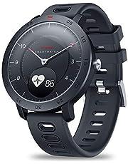 EDtara Present för kvinnor män zeblaze hybrid smartwatch puls blodtrycksmätare smart klocka träning logg sömn logga för Android iOS svart