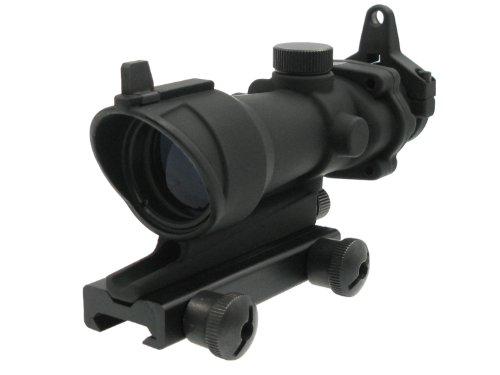 BEGADI ACOG Style -Scope-, Version 3 (rot beleuchtetes Absehen) mit Notvisierung - schwarz
