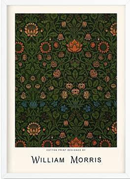 Pájaro, girasol, hoja, William Morris, impresiones y carteles abstractos, pintura artística para pared, sala de estar, lienzo sin marco, pintura A2 50x70cm