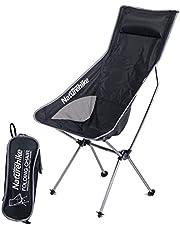 Naturehike Lichtgewicht Opvouwbare Campingstoel met Rugkussen, Outdoor Draagbaar Vissersstoel met Transporttas voor Picknick Wandelen Reizen