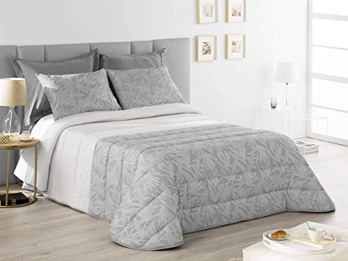 Fundeco - Colcha bouti SARAL Cama 200 Cm - Color Gris