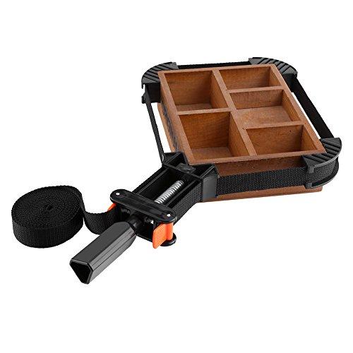 Abrazadera de esquina ajustable multifuncional con abrazadera de correa de banda de 4 mordazas para soporte de marco de foto Herramienta de carpintería de encuadernación