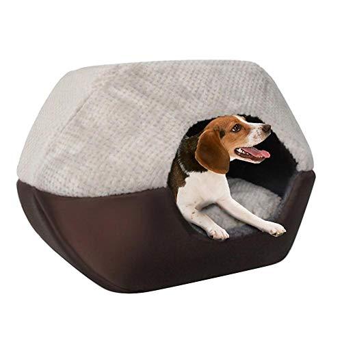 Bed voor huisdieren, wasbaar, opvouwbaar, kattengat, zacht, warm, hol, huis, bed, yurte vorm, 52X45 X41cm, Ananas