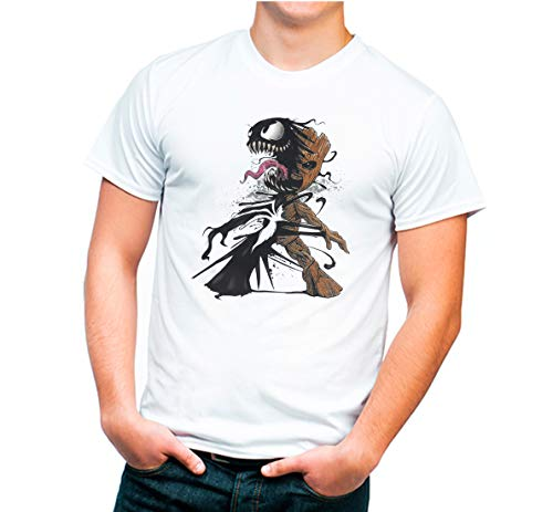 T-Shirt Original Groot-Venom. Erwachsenengröße, 100 % Baumwolle., weiß, L