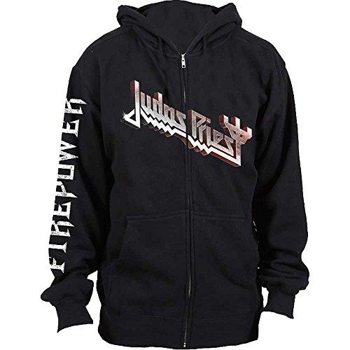 Tee Shack Judas Priest Firepower Rob Halford offiziell Männer Kapuzenpullover (Small)