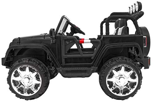RC Auto kaufen Kinderauto Bild 5: BSD Kinderauto Elektroauto Kinderfahrzeug Spielzeug Elektrofahrzeuge - Master 4x4 2-Sitzer - Schwarz*