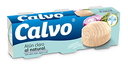 Calvo Atún Claro Al Natural - Paquete de 3 x 80 gr