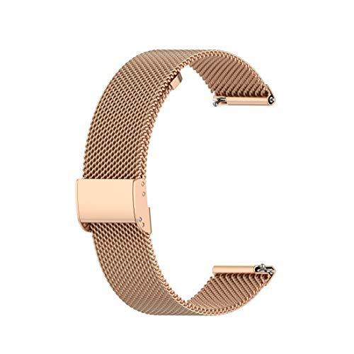 MRLINBAB For Huawei GT / GT2 46mm / 46mm Galaxy Reloj/Fossil Gen 5 Carlyle de 46 mm de Acero Inoxidable de Malla de Reloj de Pulsera Correa 22MM (Negro) (Color : Rose Gold)