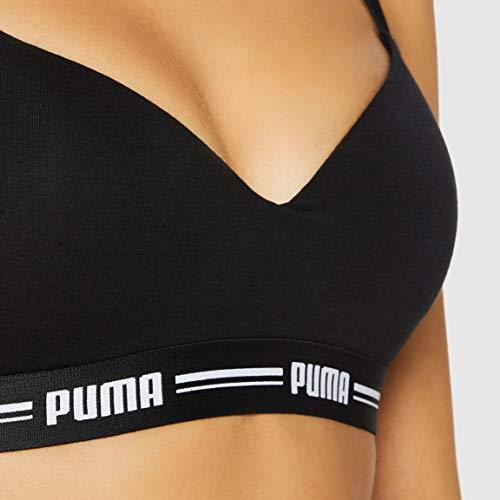 PUMA Women Padded Top 1P Hang Sujetador deportivo, black, M para Mujer