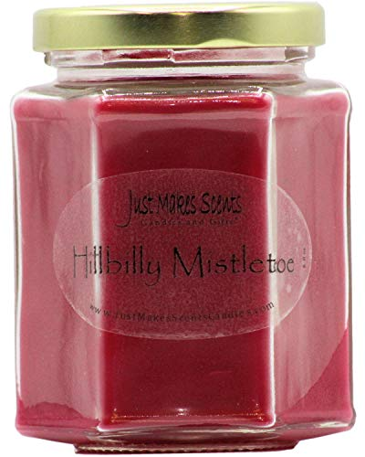Just Makes Scents Hillbilly Mistletoe Scented Christmas Candle | Evergreens and Fruit Fragrance | Hand Poured in The USA