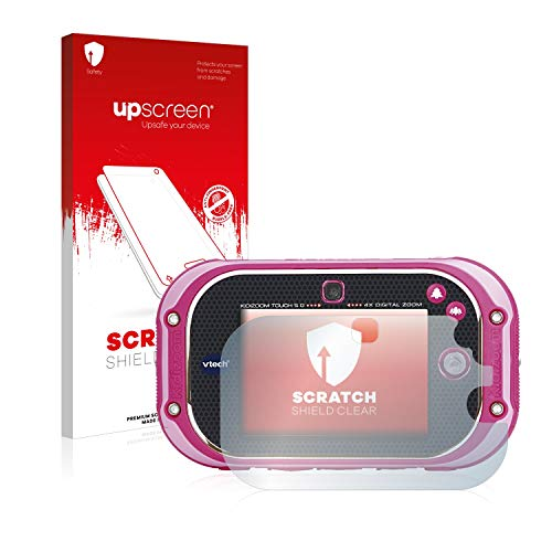 upscreen Schutzfolie kompatibel mit Vtech Kidizoom Touch 5.0 2018 – Kristallklar, Kratzschutz, Anti-Fingerprint