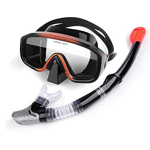 Kit De Snorkel, Conjunto De Snorkel para Mujeres Y Hombres, Máscara De Snorkel De Vidrio Templado Antiniebla, Equipo De Snorkel Superior Anti-Fugas para Snorkel, Natación Y Buceo