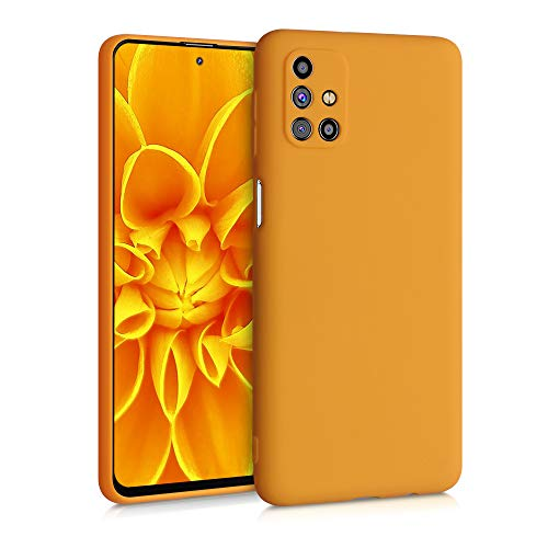 kwmobile Custodia Compatibile con Samsung Galaxy M31s - Cover in Silicone TPU - Back Case per Smartphone - Protezione Gommata Giallo Zafferano