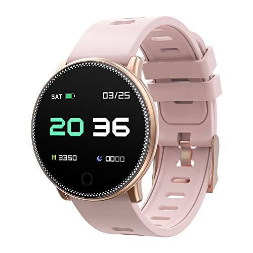 Smart Watch, UMIDIGI Uwatch2 Bluetooth Smartwatch per Donna Uomo Bambini Compatibile Android iOS, IP67 impermeabile, tracker attività fitness con cardiofrequenzimetro (2 cinturini)