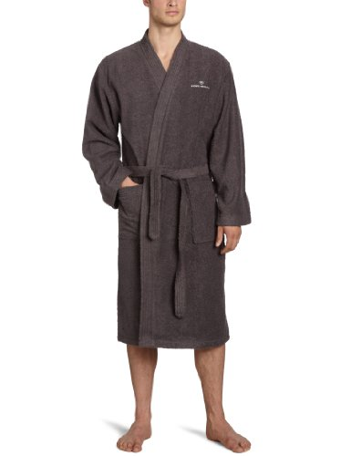 TOM TAILOR 0100300 Bademantel Kimono Größe: L, dark grey