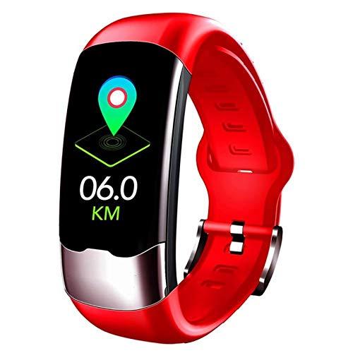 YNLRY Pulsera Inteligente Reloj Deportivo USB Pulsera Inteligente Moda Impermeable Monitoreo De Frecuencia Cardíaca Pulseras para Fitness Set A (Color : Rose Red)