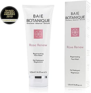 Face Wash 125ml - Rosewater, Rose Absolute, Rosehip Seed Oil, MSM, Vitamin C, Green Tea - Award Winning - 98% Natural, 70% Organic