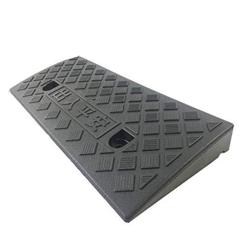 JNMDLAKO Almohadilla para Subir escalones, rampas de acera multifunción Alfombrilla para Subir de Servicio Antideslizante Fácil de Transportar Rampas de plástico para sillas de Ruedas Rampas