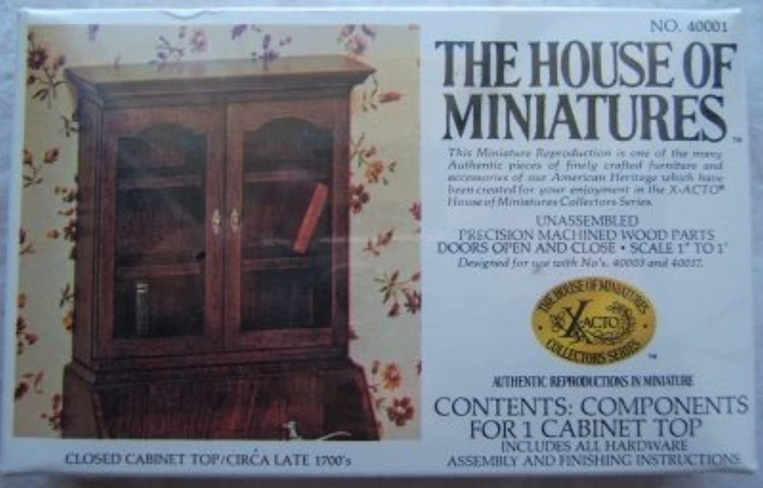 The House of Miniatures Closed Cabinet Top by The House of Miniatures