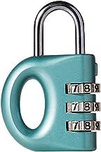 Mini Klein Hangslot, Student Slaapzaal, Locker Instelbaar Password Anti-Diefstal Lock Light Blue-Lichtblauw