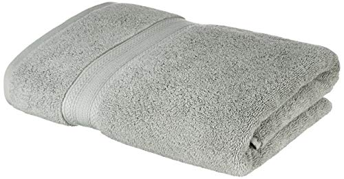Amazon Brand - Solimo 100% Cotton Bath Towel, 575 GSM (Drizzle Grey)