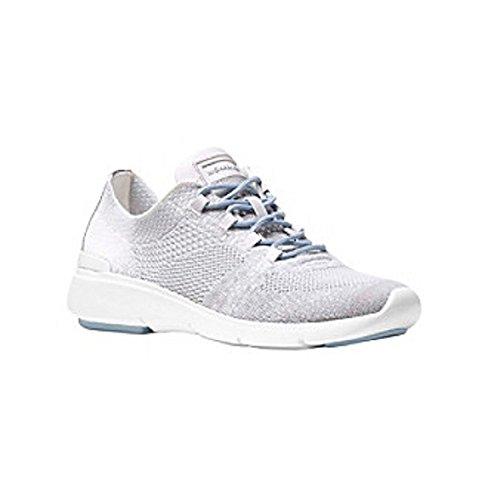 Michael Michael Kors Skyler - Zapatillas de Deporte, Color Plateado y Aluminio, Blanco (Aluminio/Plateado), 37.5 EU