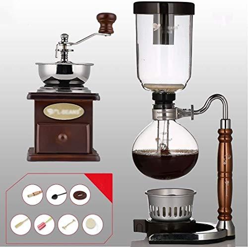 TGhosts Syphon Kaffeemaschine, Syphon Kaffeemaschine Set Kaffee Syphon Zodiac Totem Syphon-Topf-Kaffee-Topf 11 Farben, 3 Tassen, 110 * 352mm Vakuum Kaffeemaschine (Color : E)
