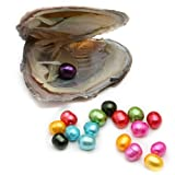10PC Freshwater Pearl Cultured Love Wish Pearl Oyster with Pearl Inside for Pearl Gift Fun for Children Family Friends Party Oyster with Pearls Inside(7-8mm, 10PC)