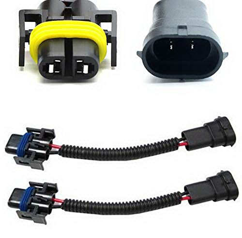 iJDMTOY (2) H11 H8 H9 Extension Wiring Harness Sockets Wires Compatible With Headlights or Fog Lights Use