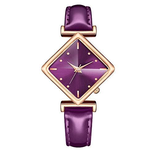 Relojes Para Mujer Elegante rectángulo simple de las señoras Reloj de cuarzo de plata Reloj de cuarzo de las mujeres Relojes de cuero retro casual Relojes de pulsera femenina Relojes Decorativos Casua