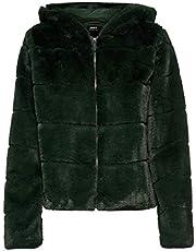Only Onlchris Fur Hooded Jacket Otw Noos Giacca Donna