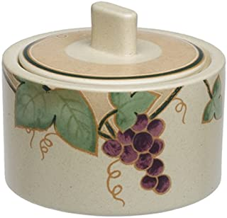 Mikasa Chablis Stoneware Sugar Bowl With Lid