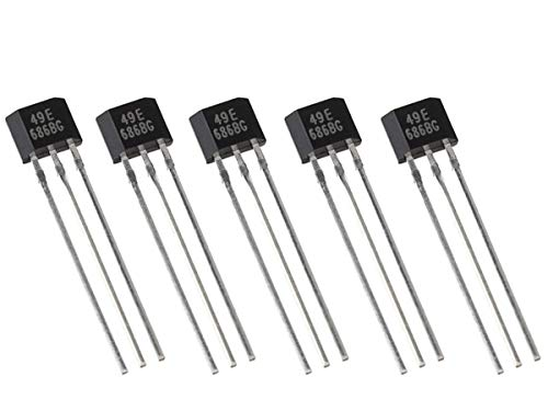 CANADUINO 5 x SS49E Linear Hall Effect Sensor - Magnetic Field Strenght Sensor - TO-92 Package
