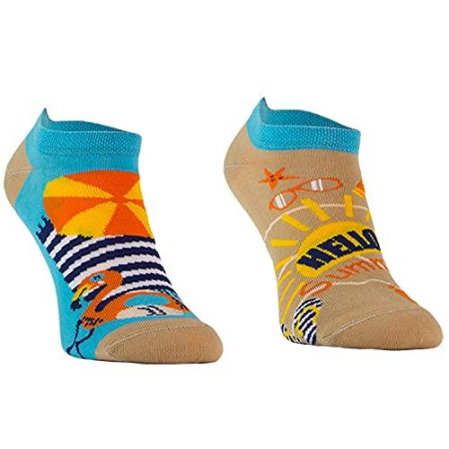 Comodo 3 Paar Lustige Kurze Socken   Witzige Bunte Socken   Funny Socks   Original   Geschenk   Baumwolle   Muster   SKS, Farbe:002.   3 Paar Kurz   Sommer, Größen:43-46