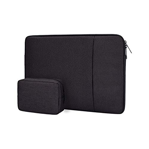 YNLRY Waterproof Laptop Sleeve Bag 13 14 15 15.6 Inch PC Cover for MacBook Air Pro Ratina Xiaomi HP Dell Acer Notebook Computer Case (Color : Black set, Size : 13 inch)