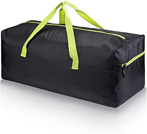 SwissWell Leichter Faltbare Reise-Gepäck 75L Duffel Taschen Übernachtung Reisetaschen Sporttasche Umhängetasche Handgepäck für Reisen Sport Gym Urlaub Grün