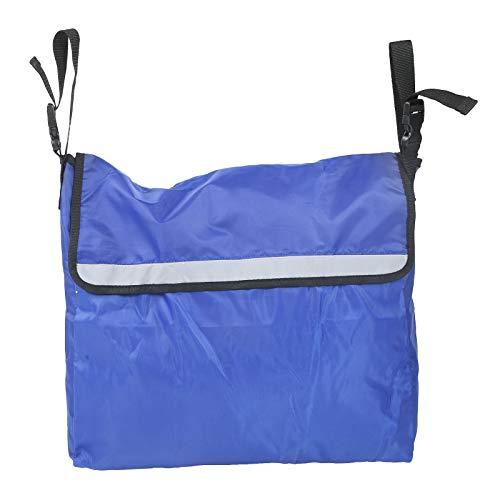 Mochila portátil para silla de ruedas Bolsa de silla de ruedas duradera para salir para actividades al aire libre para scooters (azul)
