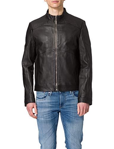 HUGO Herren Lonus 10229169 01 Lederjacke, Black1, L
