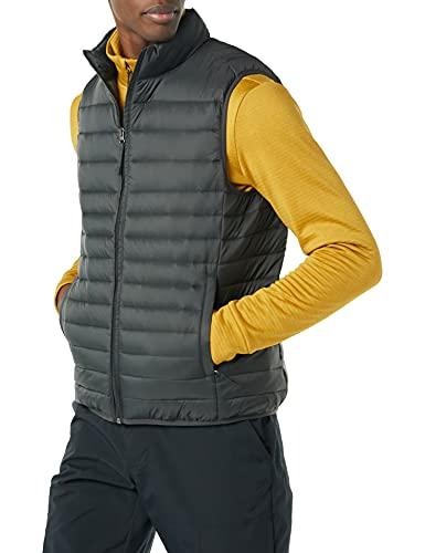 Amazon Essentials Lightweight Water-Resistant Packable Puffer Vest Chaleco de plumón, Gris Oscuro, L